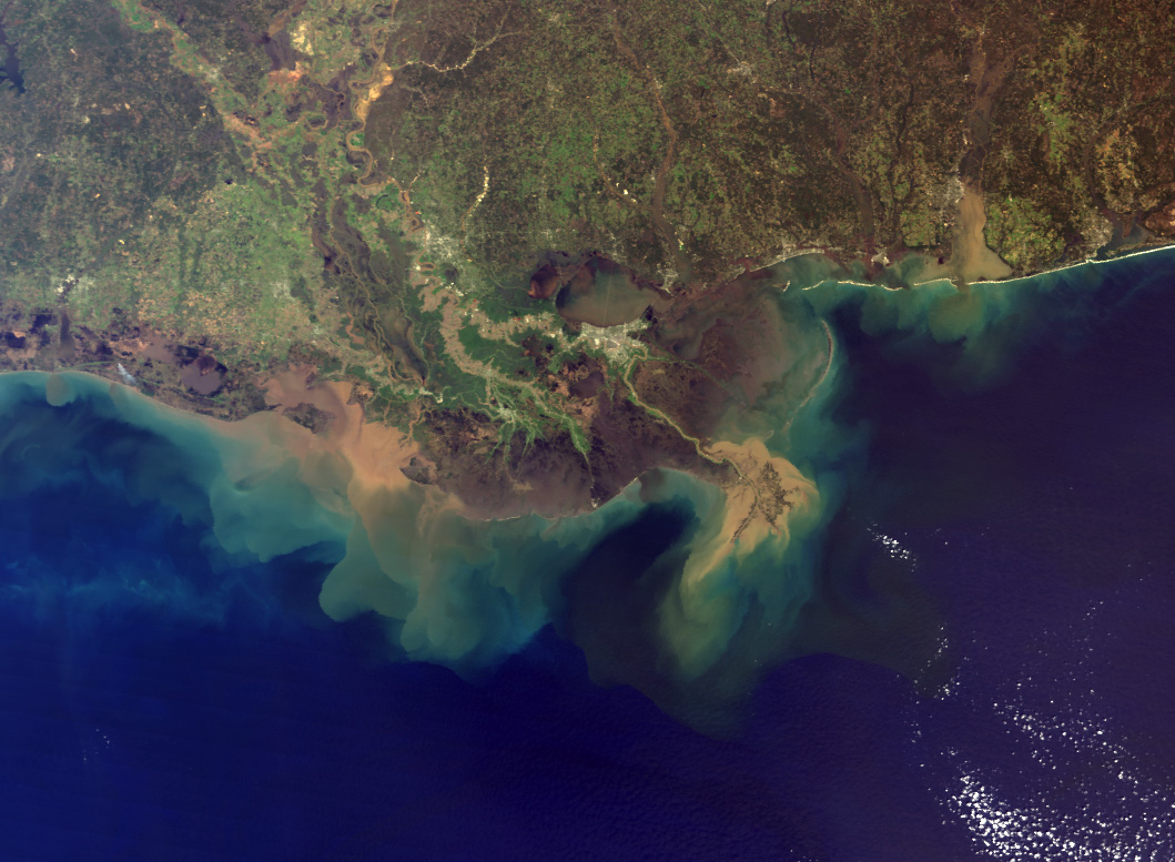 Mississippi River Sediment Plume