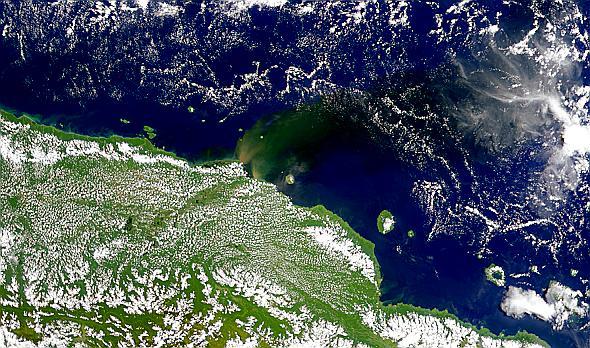 New Guinea Sediment Plumes