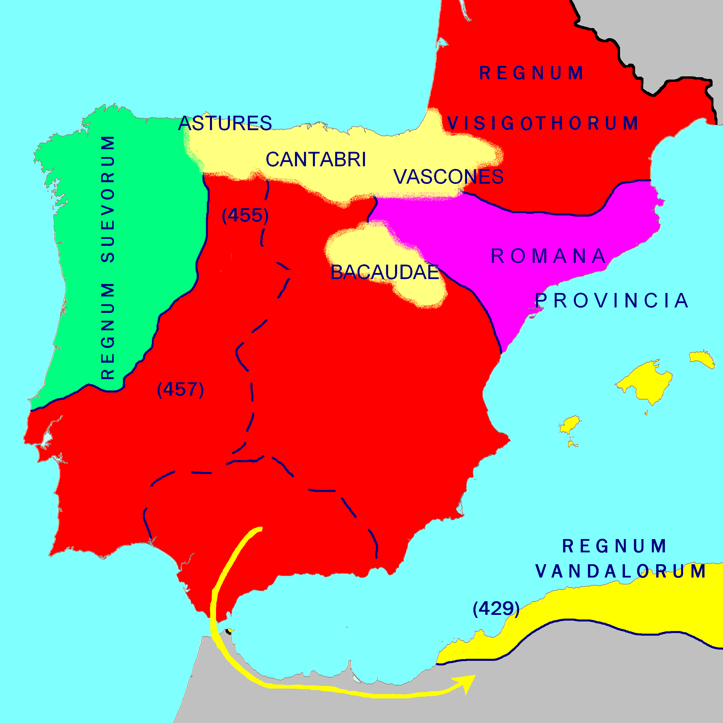 The Iberian Peninsula in the 470's