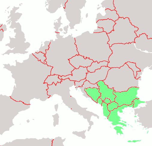 Peninsula balcanica en Europa 2008