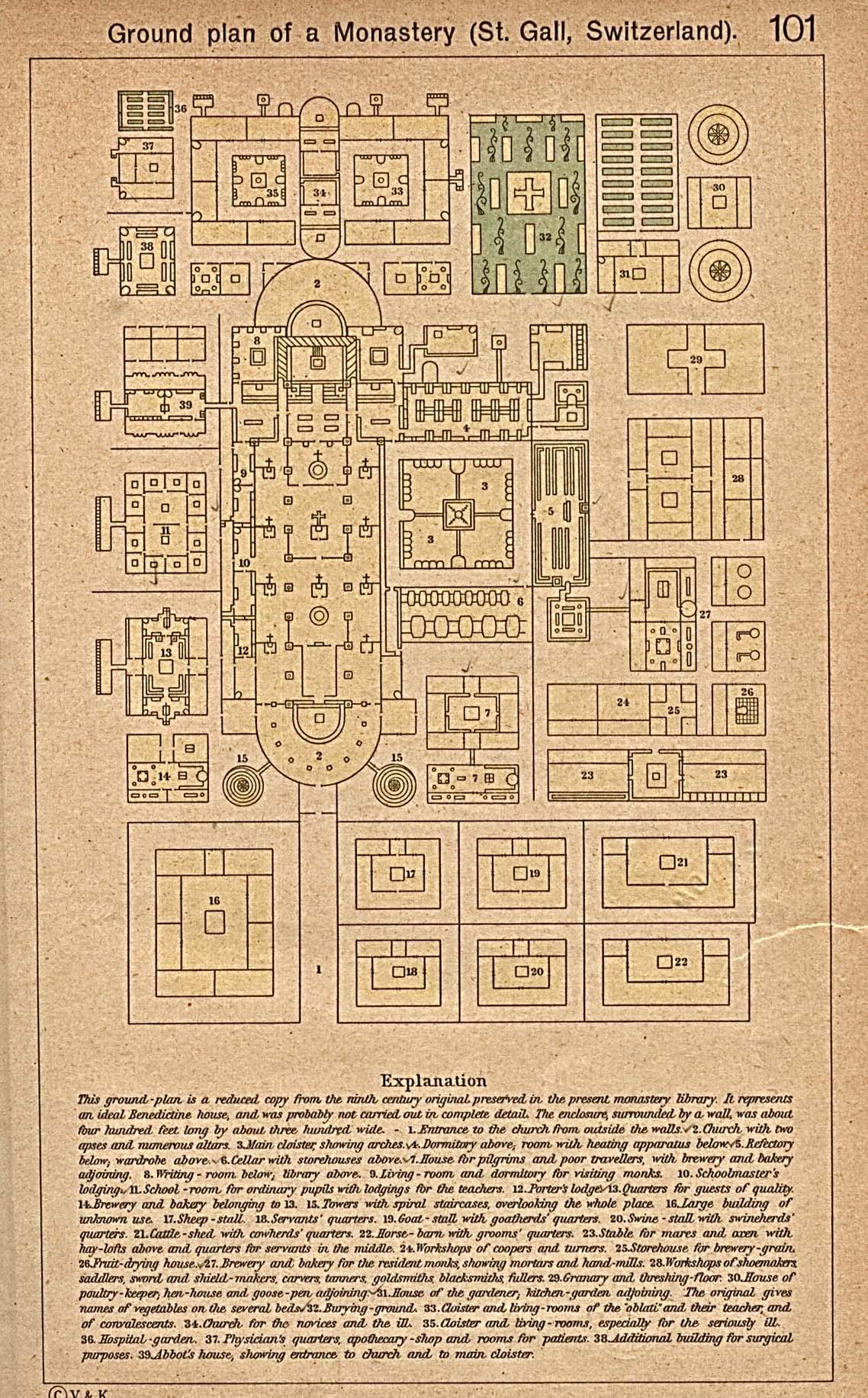 Ground Plan of the Monastery, Saint Gall, Switzerland