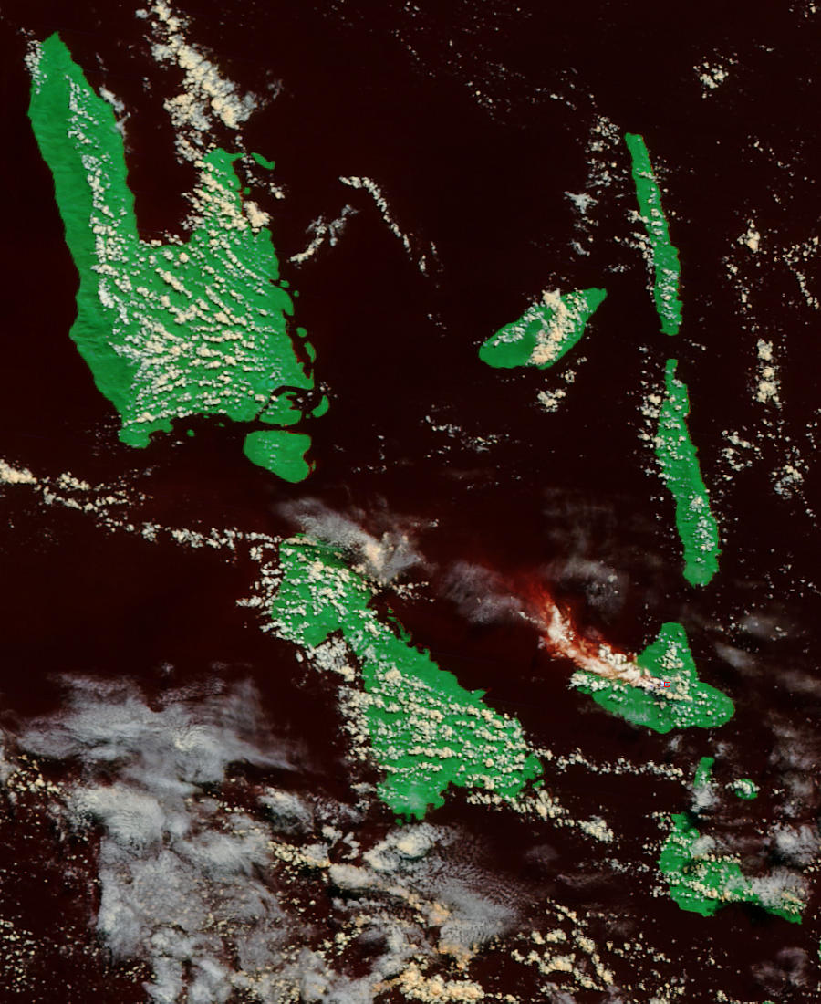 Ash plume from Ambrym Volcano, Vanuatu