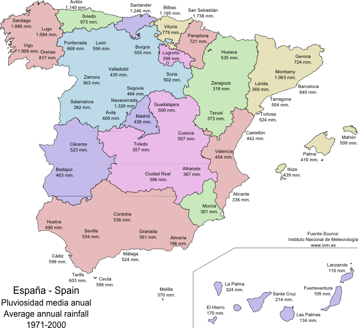cities in spain. cities in Spain 1971-2000