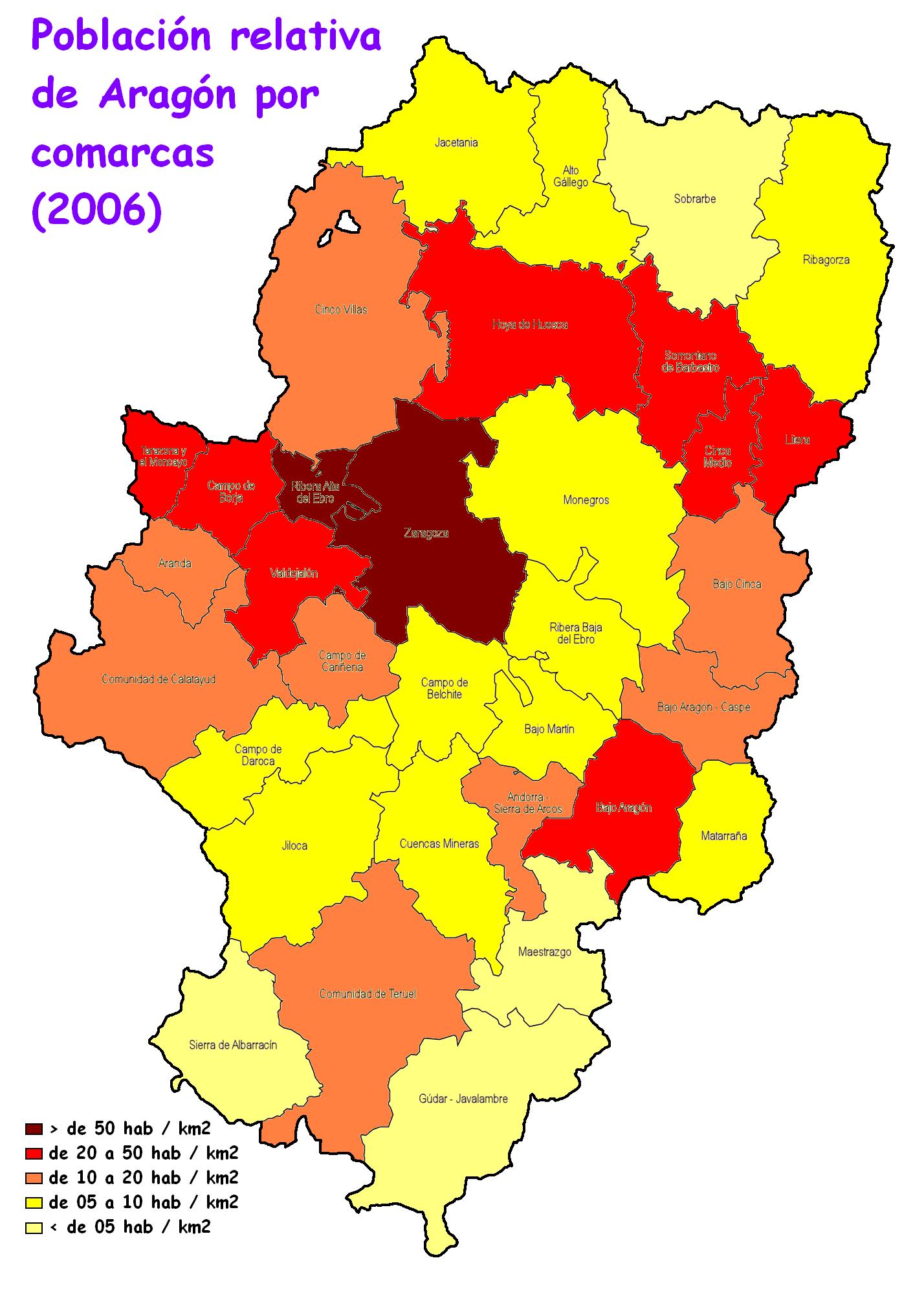 Aragon population 2006