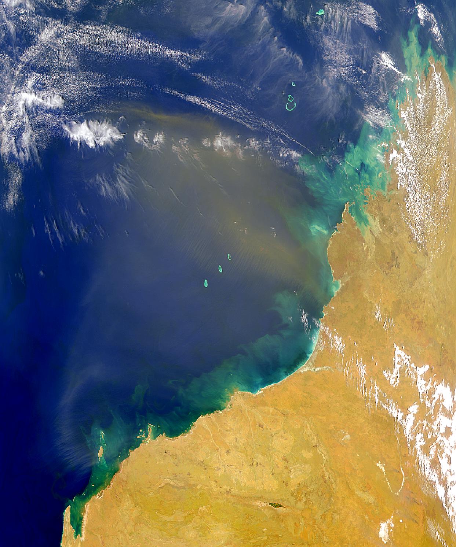 Polvareda desde Australia noroccidental