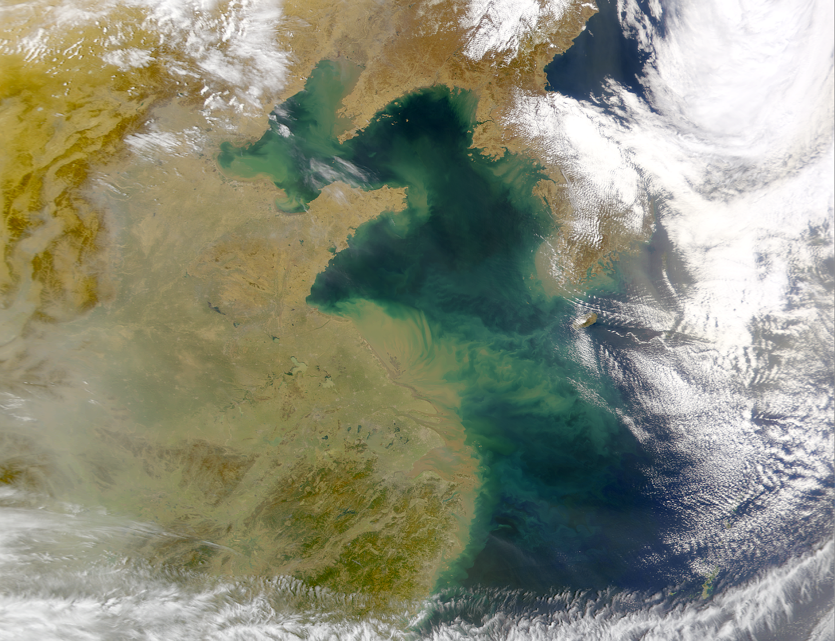 Dust Over Eastern China