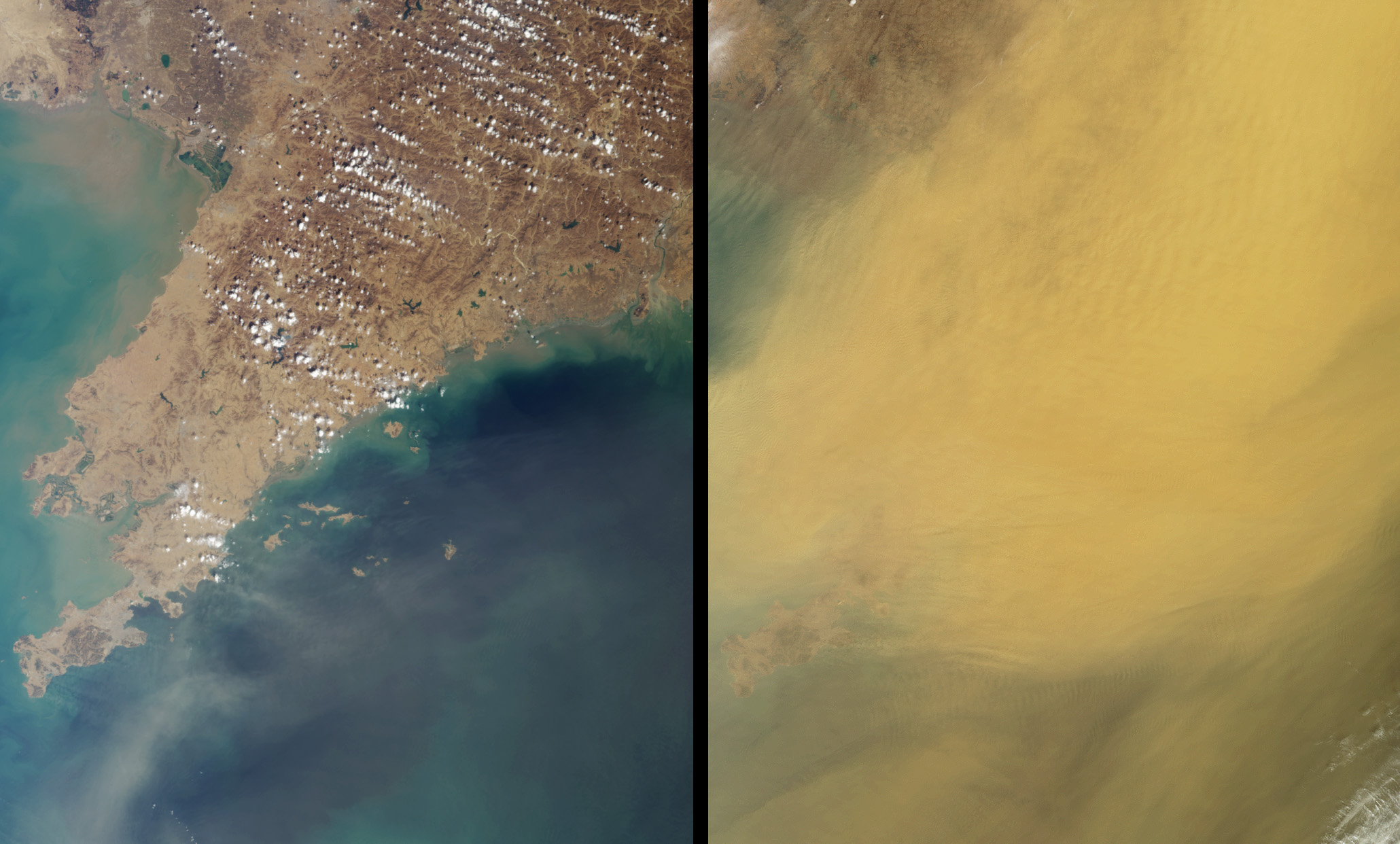 Dust Obscures Liaoning Province, China