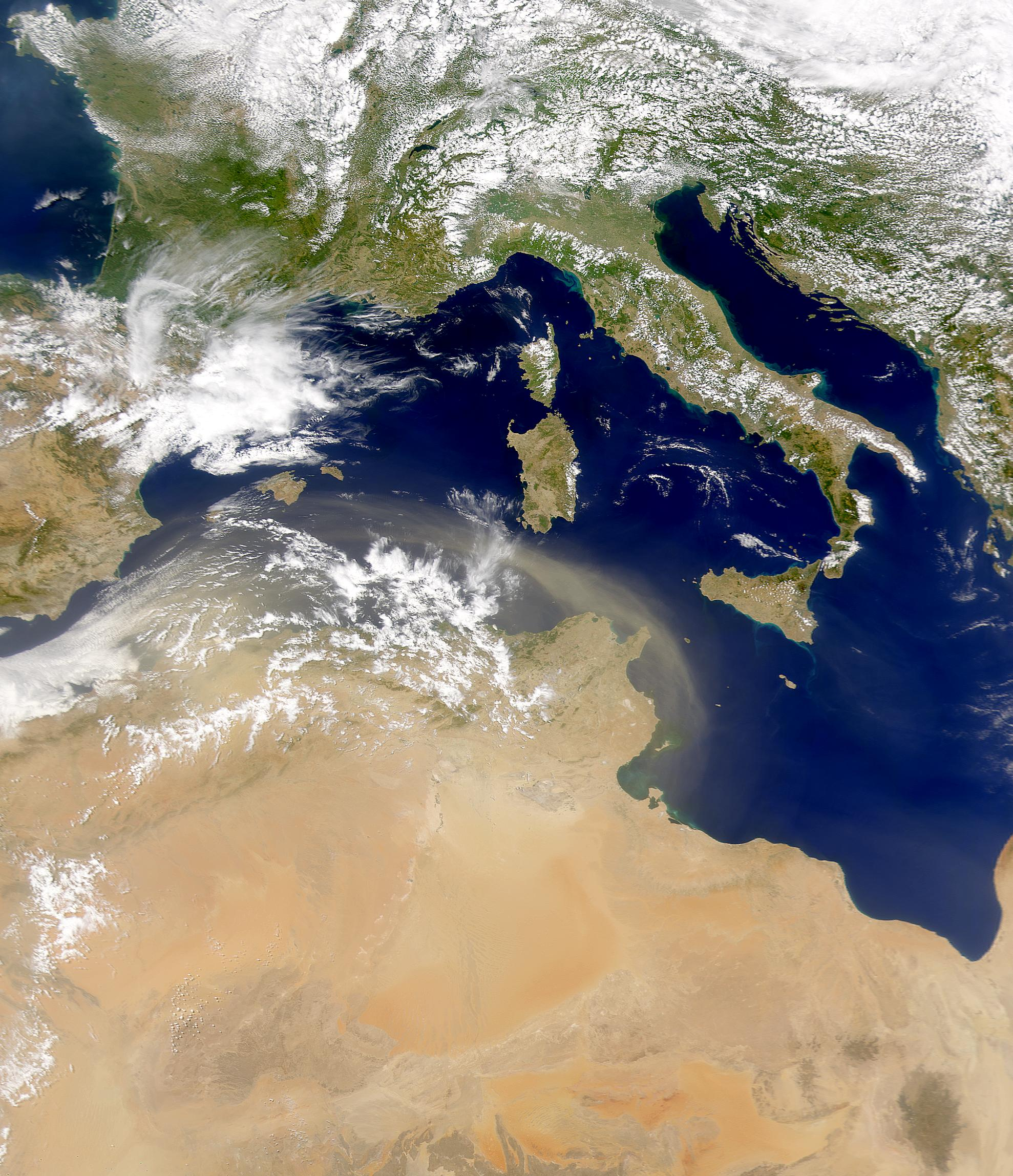 Dust Blowing From North Africa