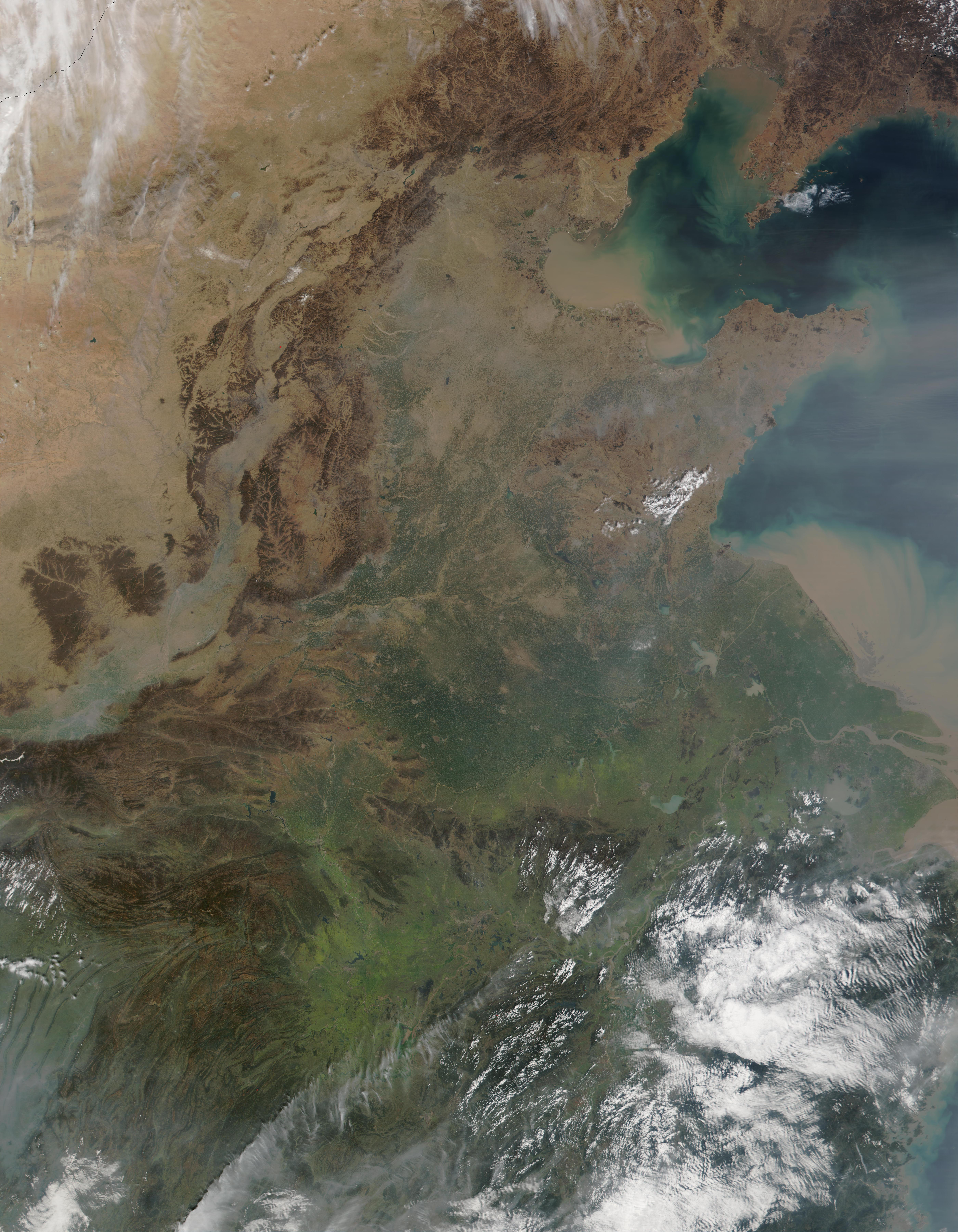 Polvareda y contaminación en China