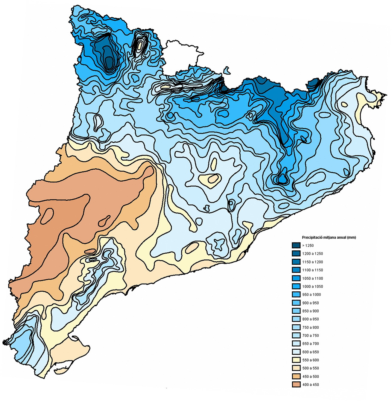 Precipitaciones en Cataluña