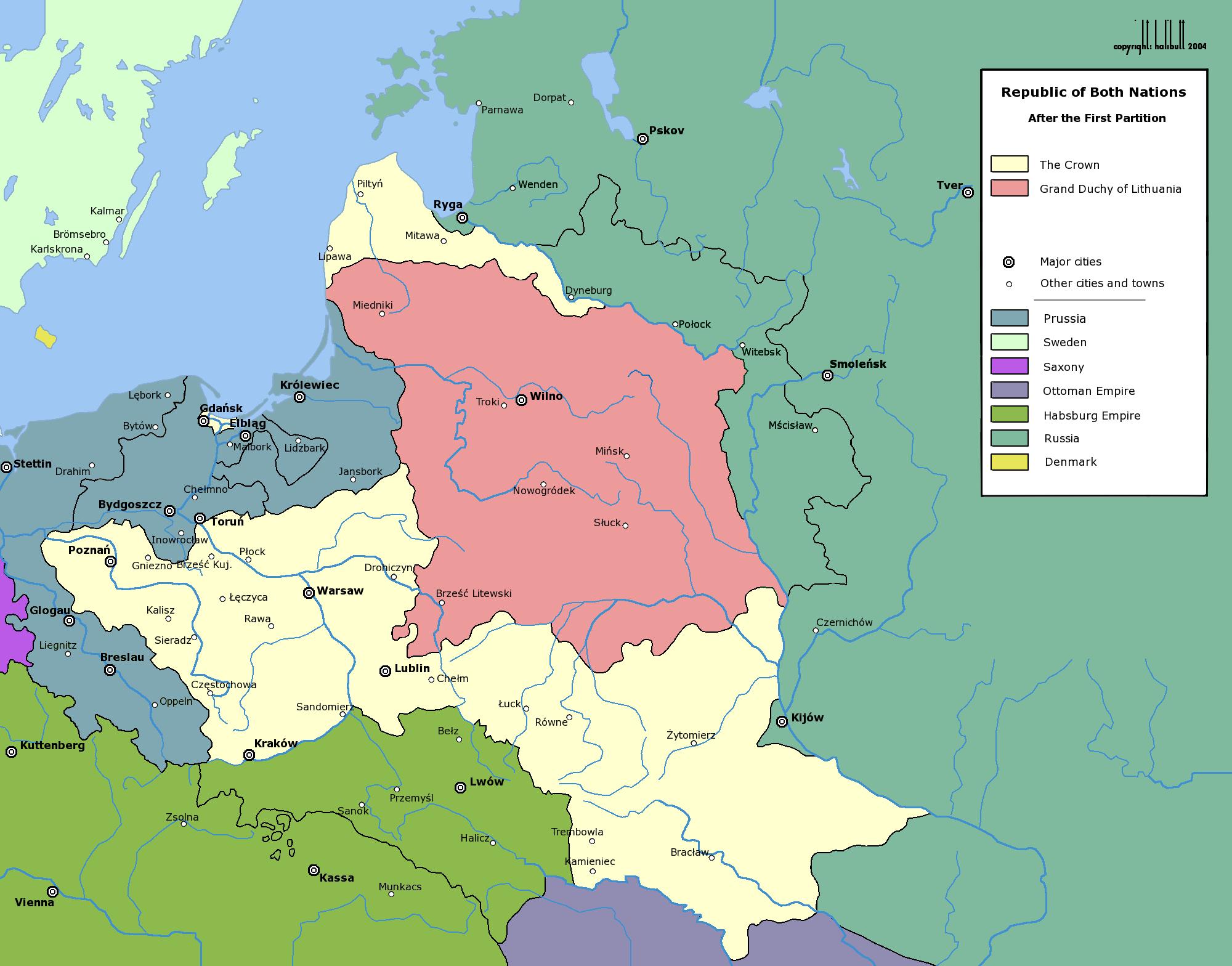 Primera Partición de Polonia 1772