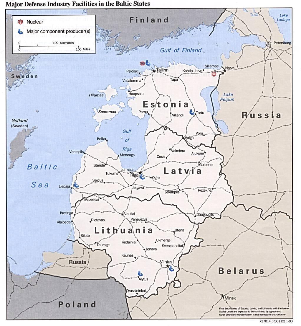 Principales Instalaciones de la Industria de Defensa de los Países Bálticos