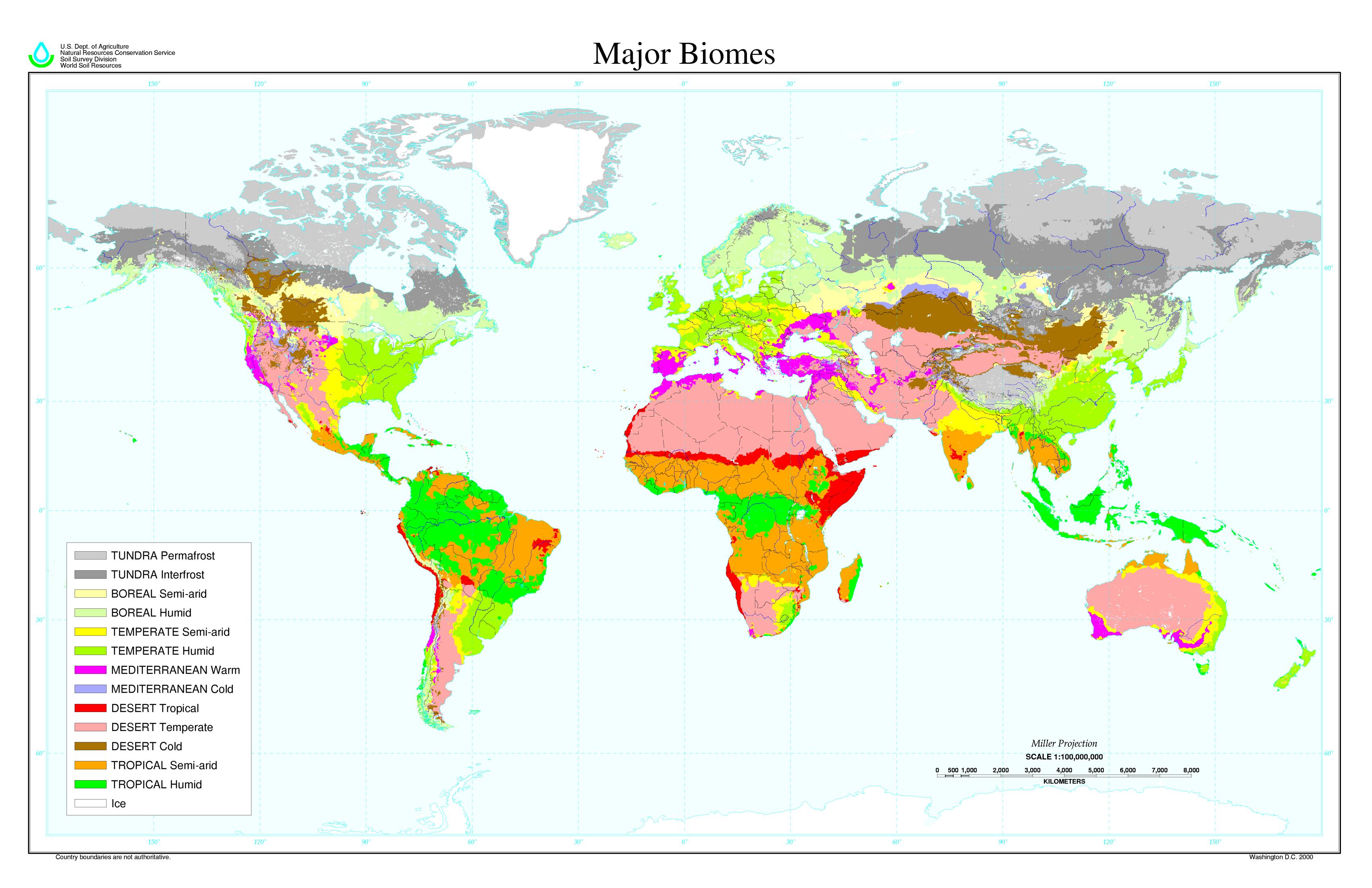 Principales biomas del Mundo 2000