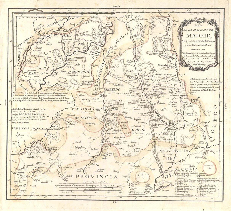 Provincia de Madrid 1773