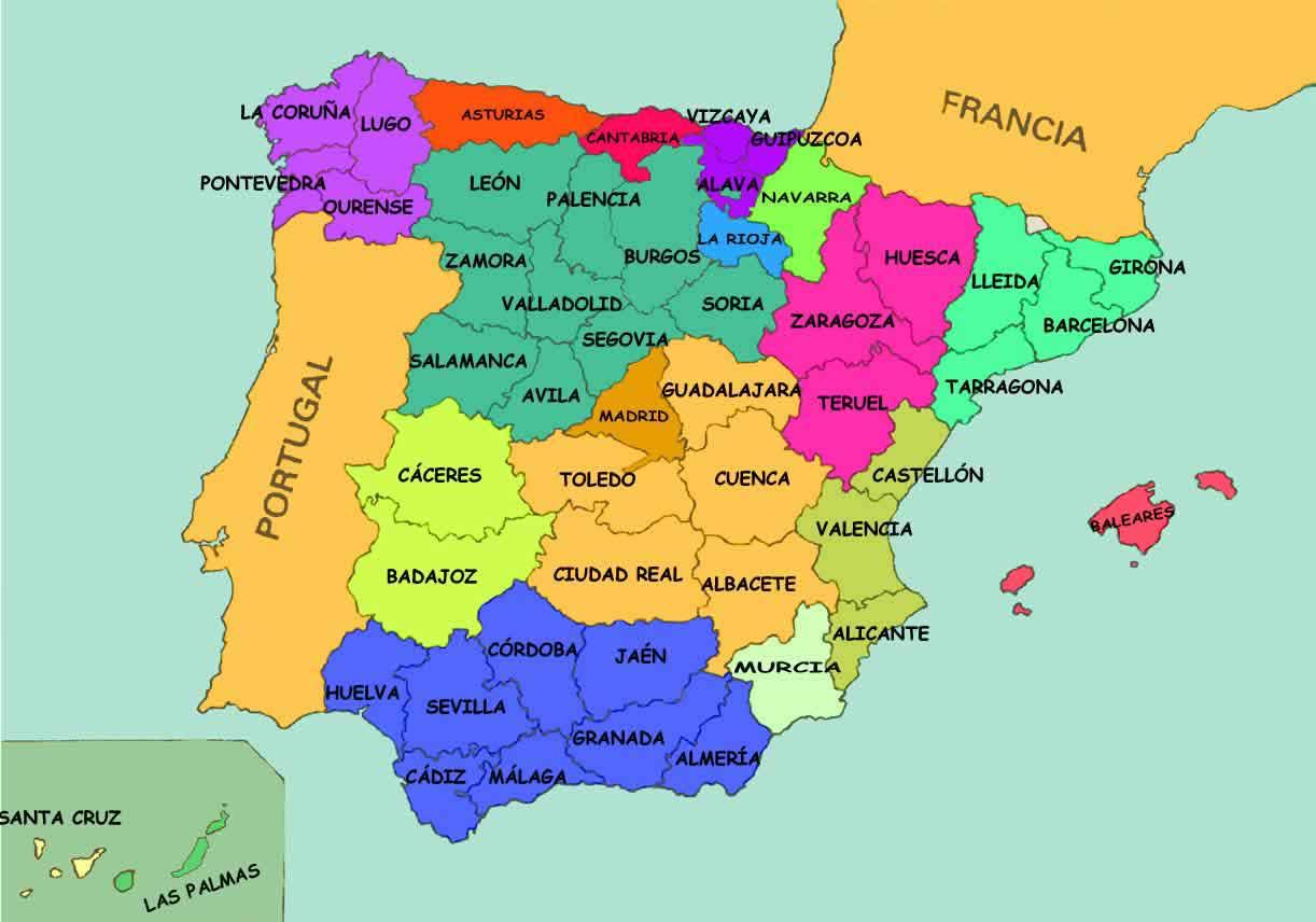 Mapa de provincias de españa