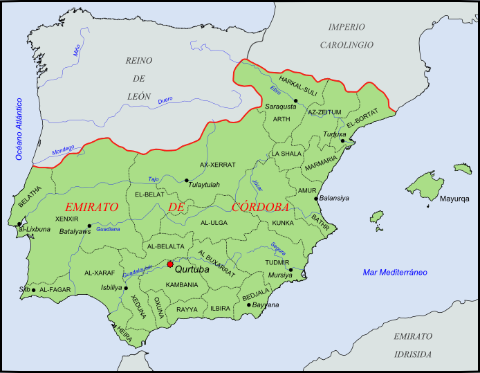 Provinces of the Emirate of Córdoba 929