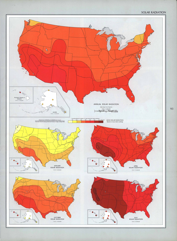 United States Solar Radiation 1970