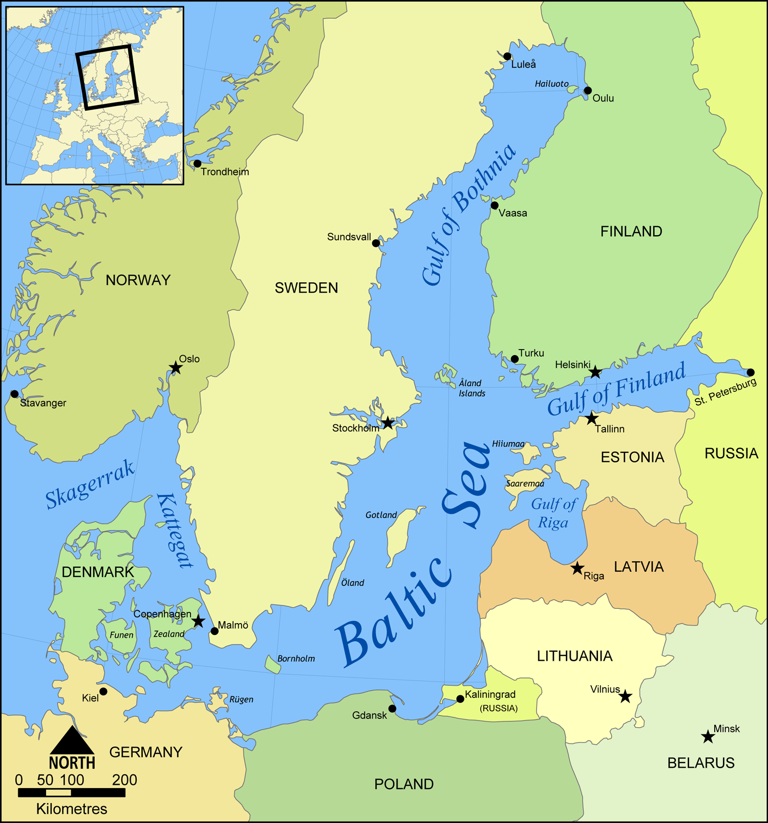 The Baltic Sea Region 2008