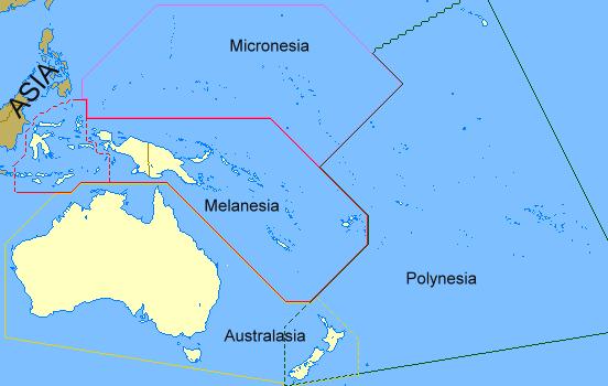 Regions of Oceania 2008