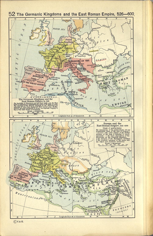 Reinos Germánicos y el Imperio Romano de Oriente 526-600