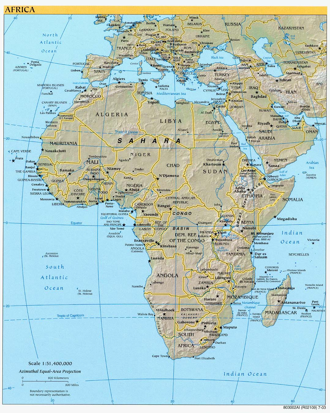Physical Features Africa Map Africa Physical Map Labeled