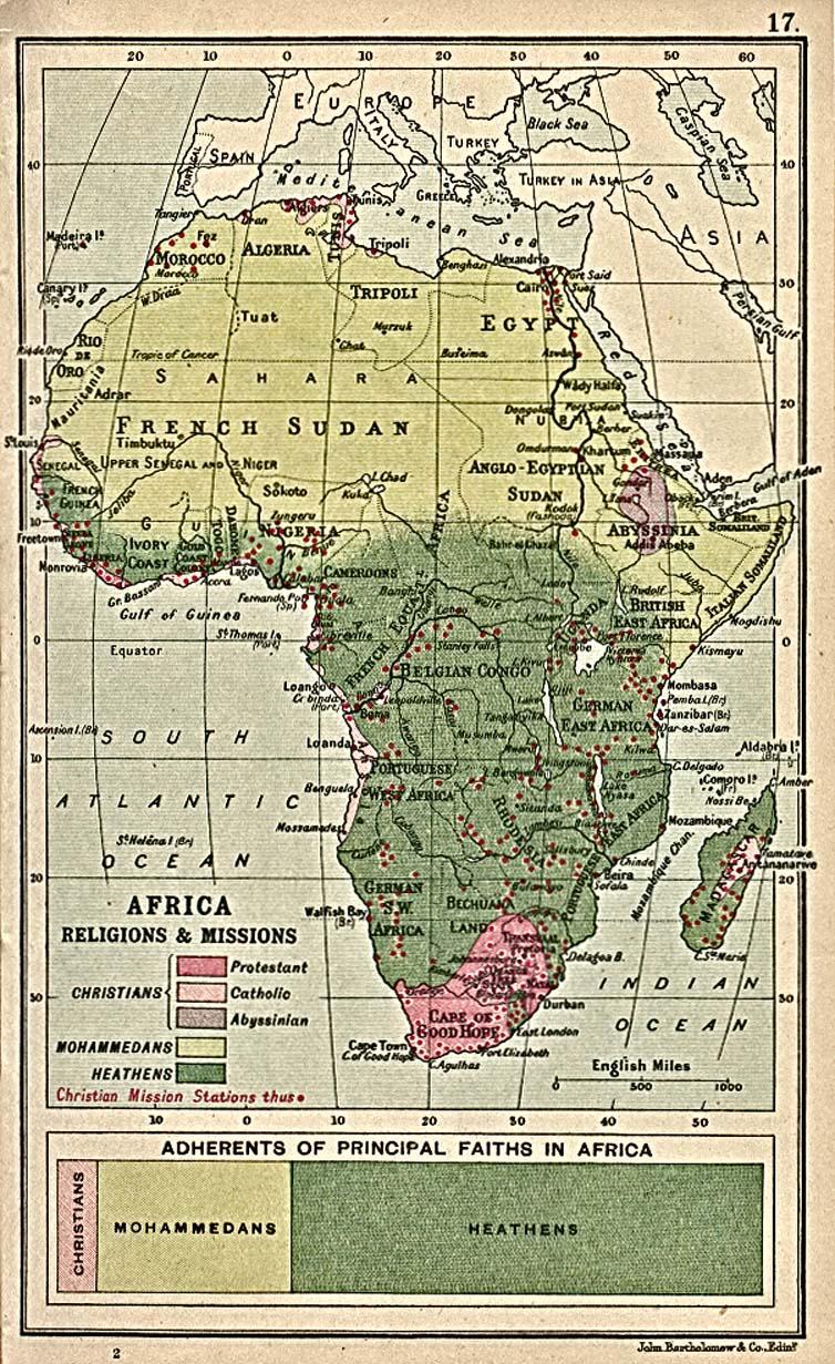 Religiones y Misiones en África 1913