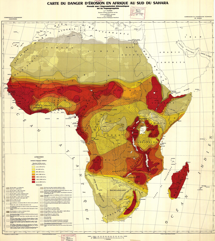 Erosion risk in Africa 1958