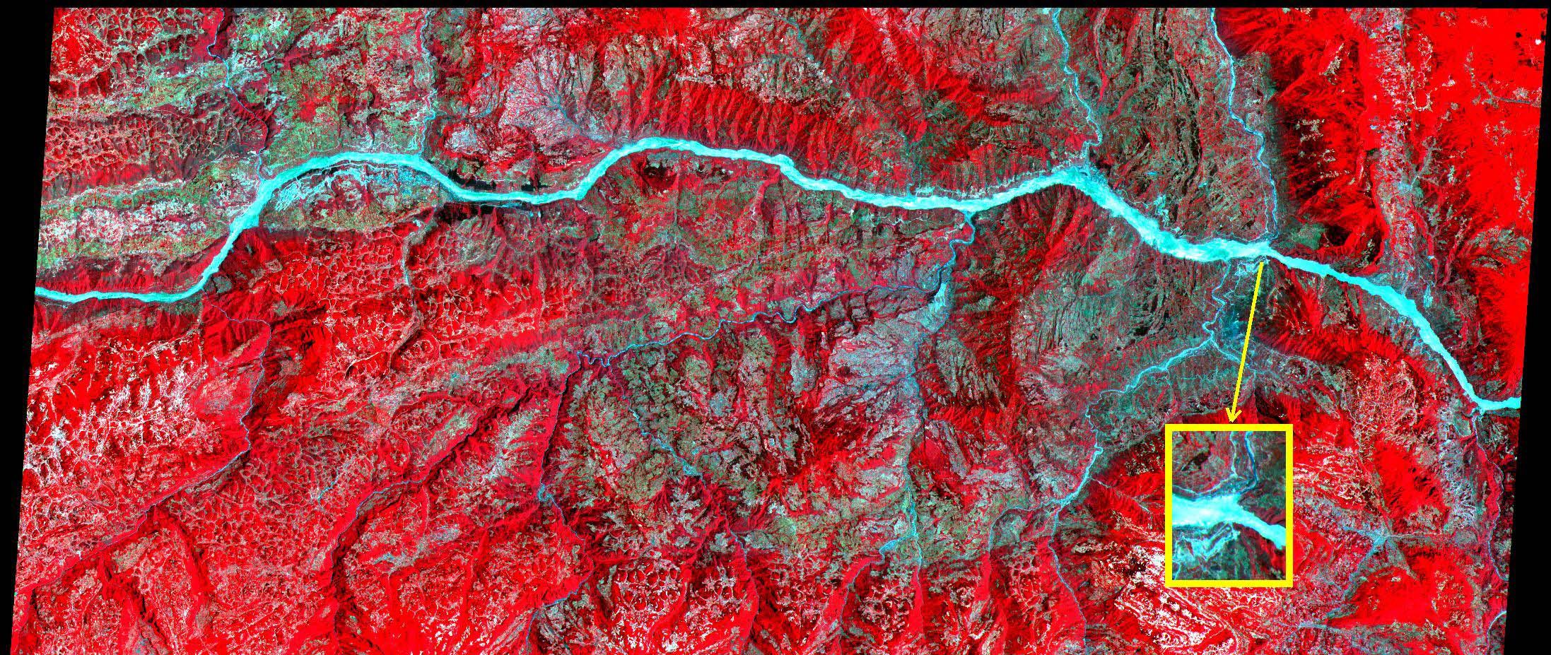 Río Yangtsé y la presa de las Tres Gargantas