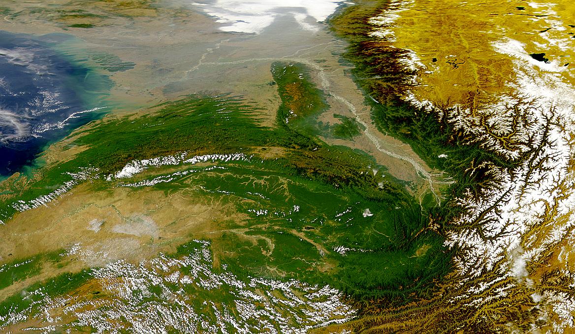 Ríos Brahmaputra y Ganges