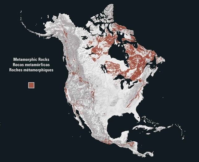 Metamorphic rocks of North America 2003