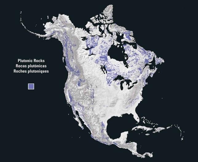 Rocas plutónicas en Norteamérica 2003