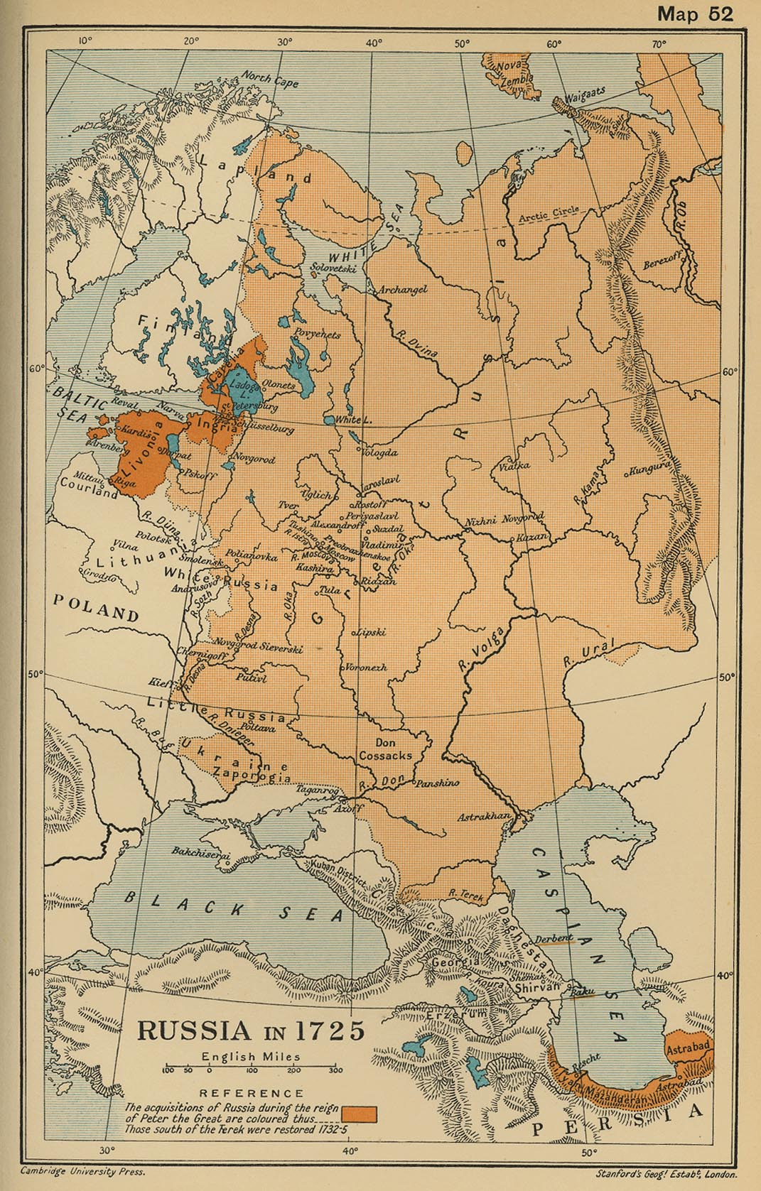Rusia en 1725