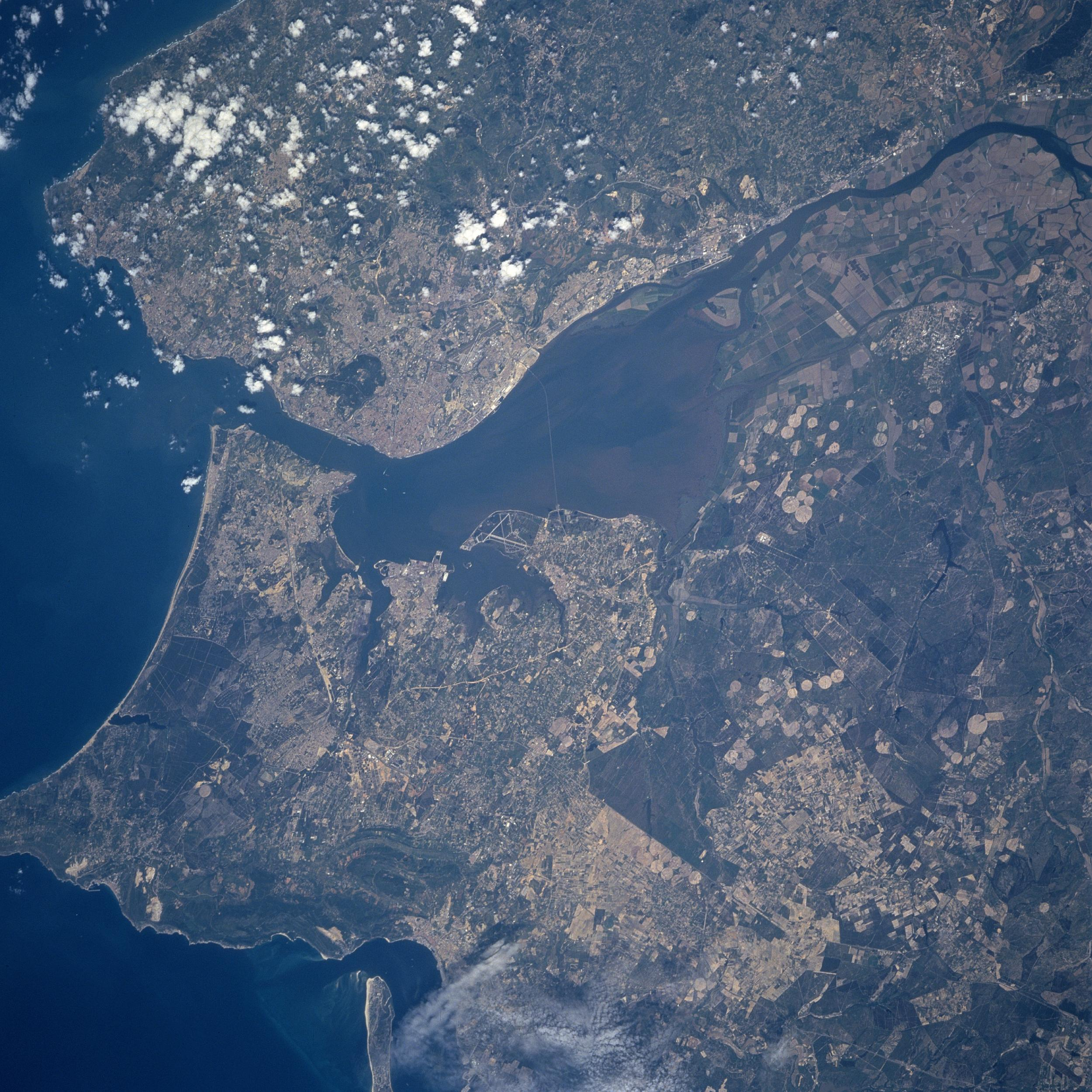 Satellite Image, Photo of Lisbon, Portugal