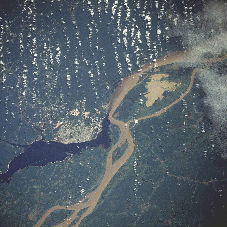 Satellite Image, Photo of Manaus, Amazonas, Brazil