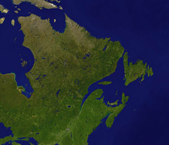 Satellite Image, Photo of St. Lawrence River, Quebec