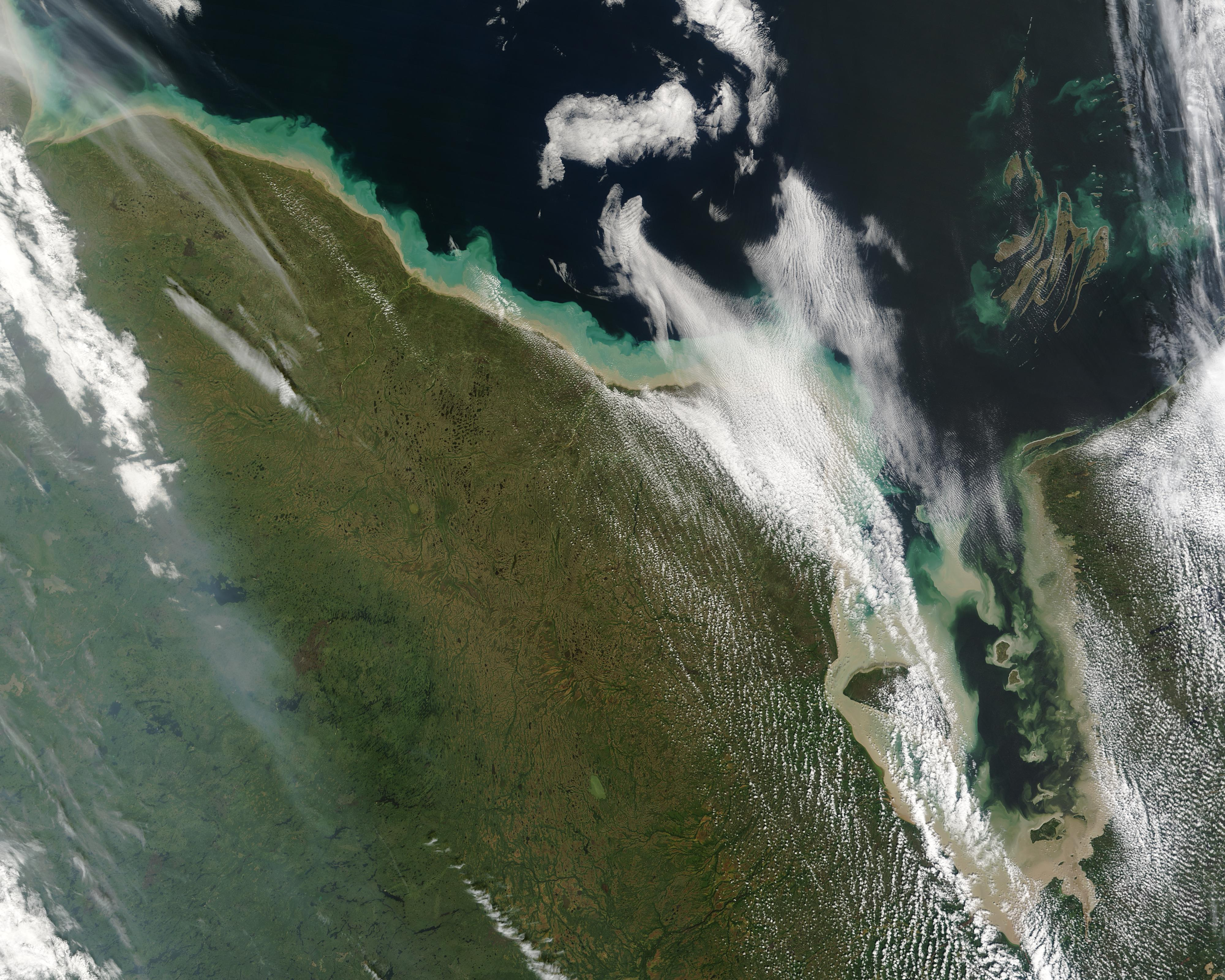 Sediment along the Hudson Bay coast, Canada