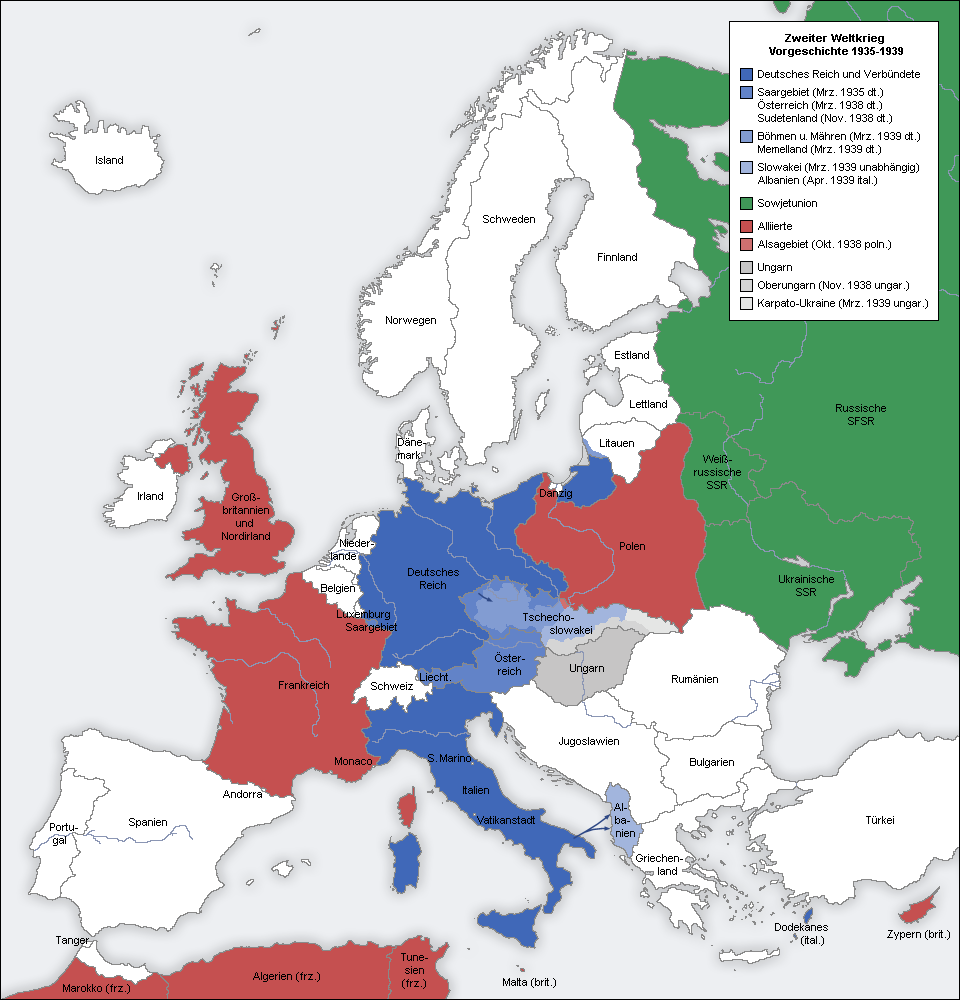 World War II in Europe 1935-1939