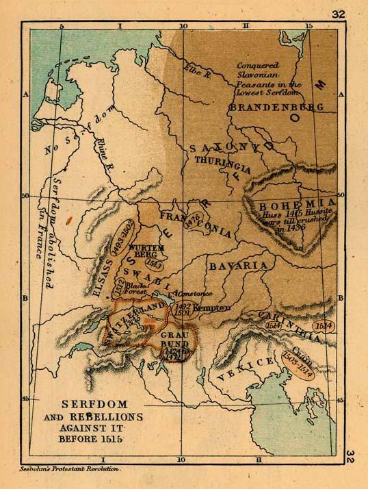 Servidumbre y Sublevaciones en Europa Central antes de 1515