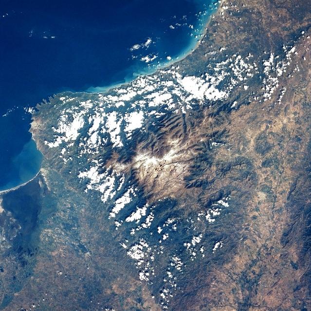 Sierra Nevada de Santa Marta vista desde el espacio