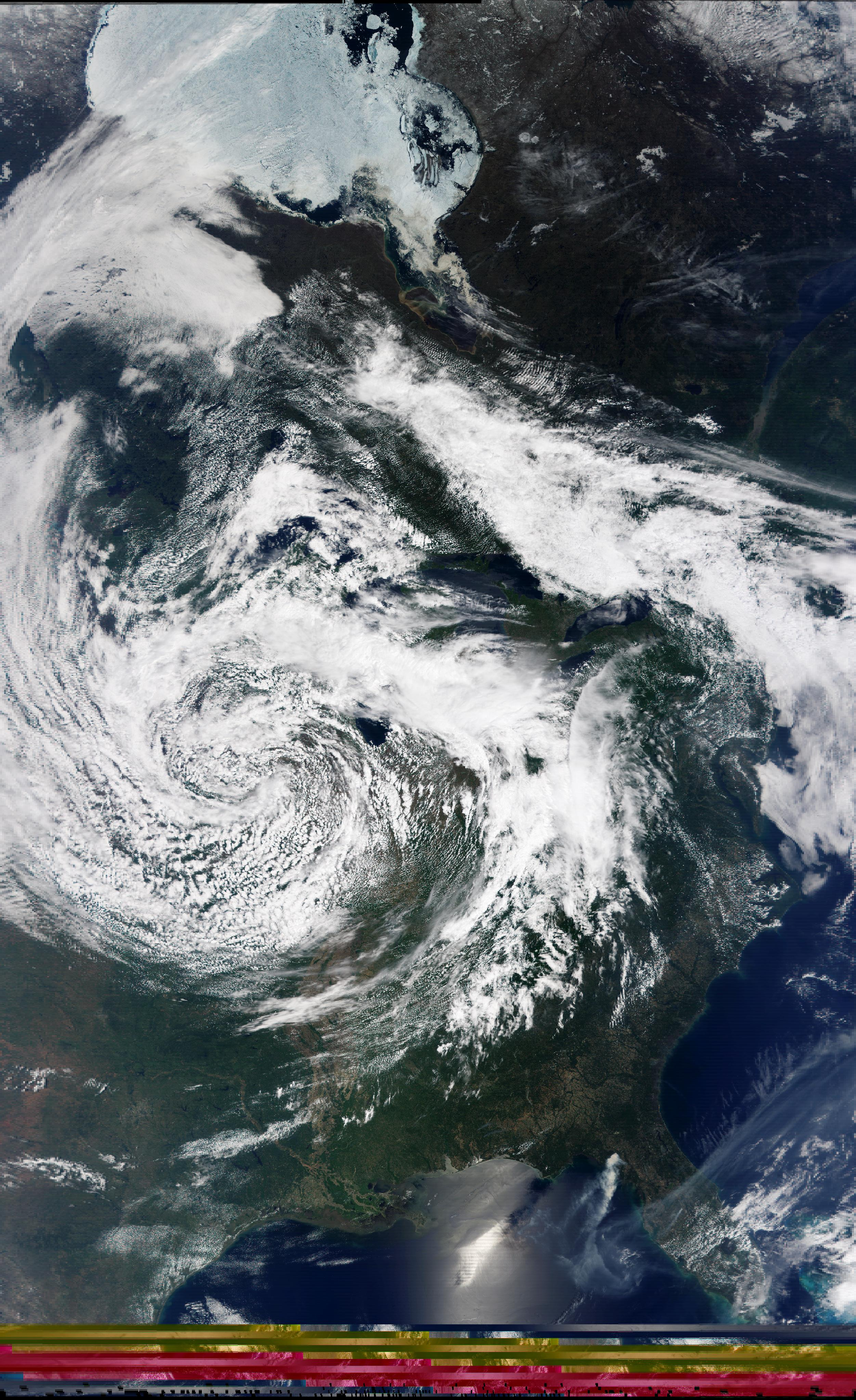 Low Pressure System over the U.S.