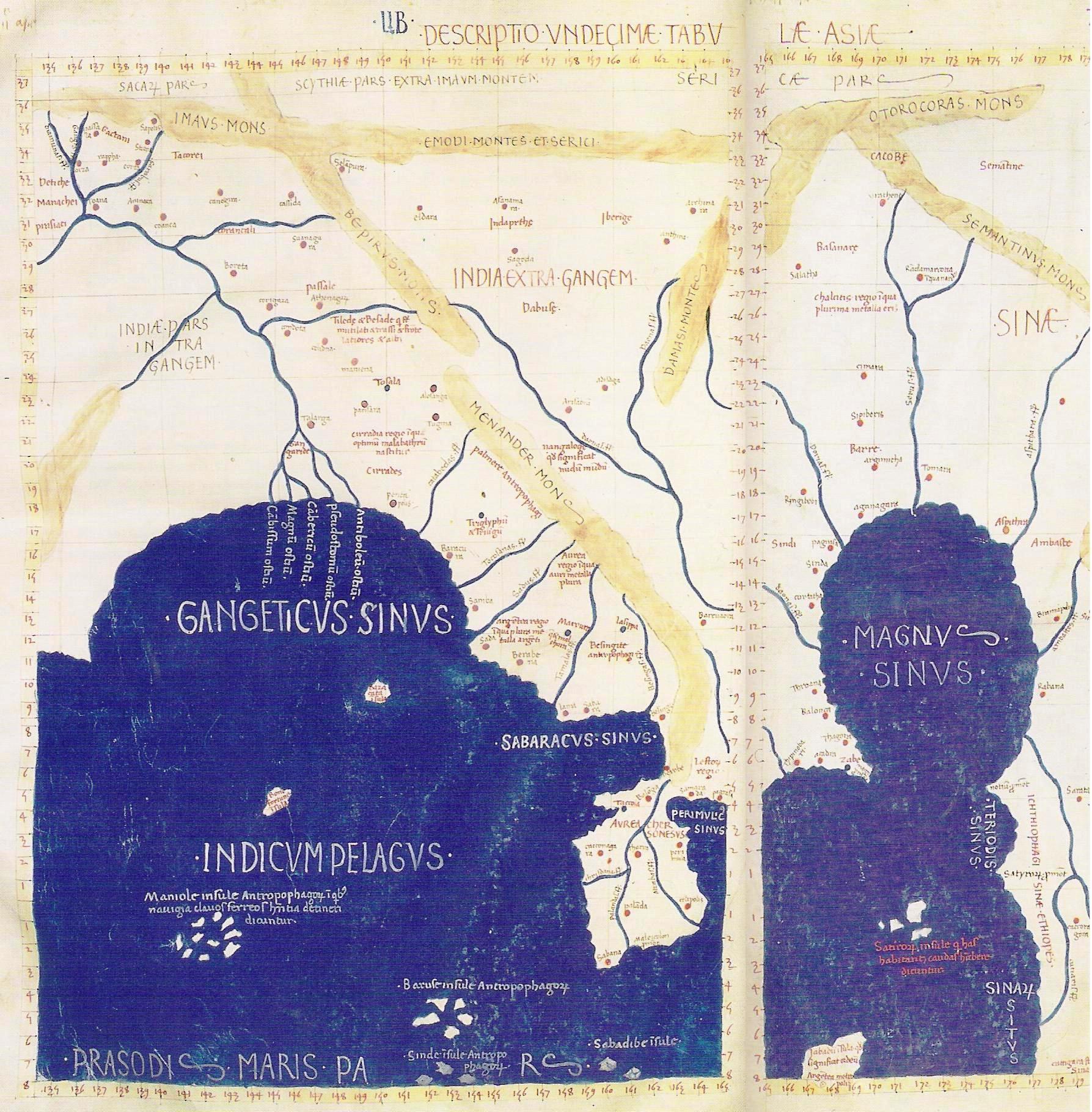 Sureste Asiático segun Ptolomeo
