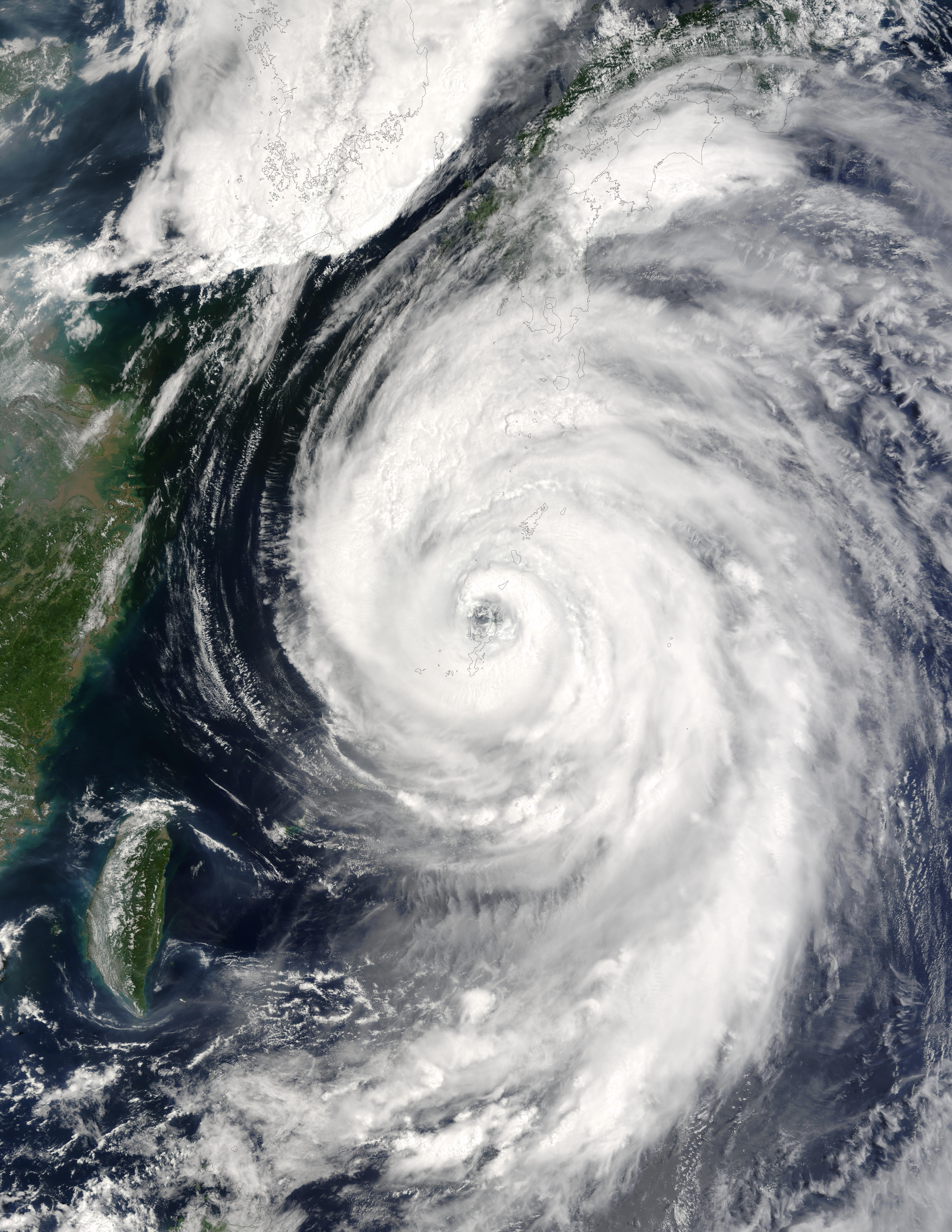 Typhoon Etau (11W) south of Japan