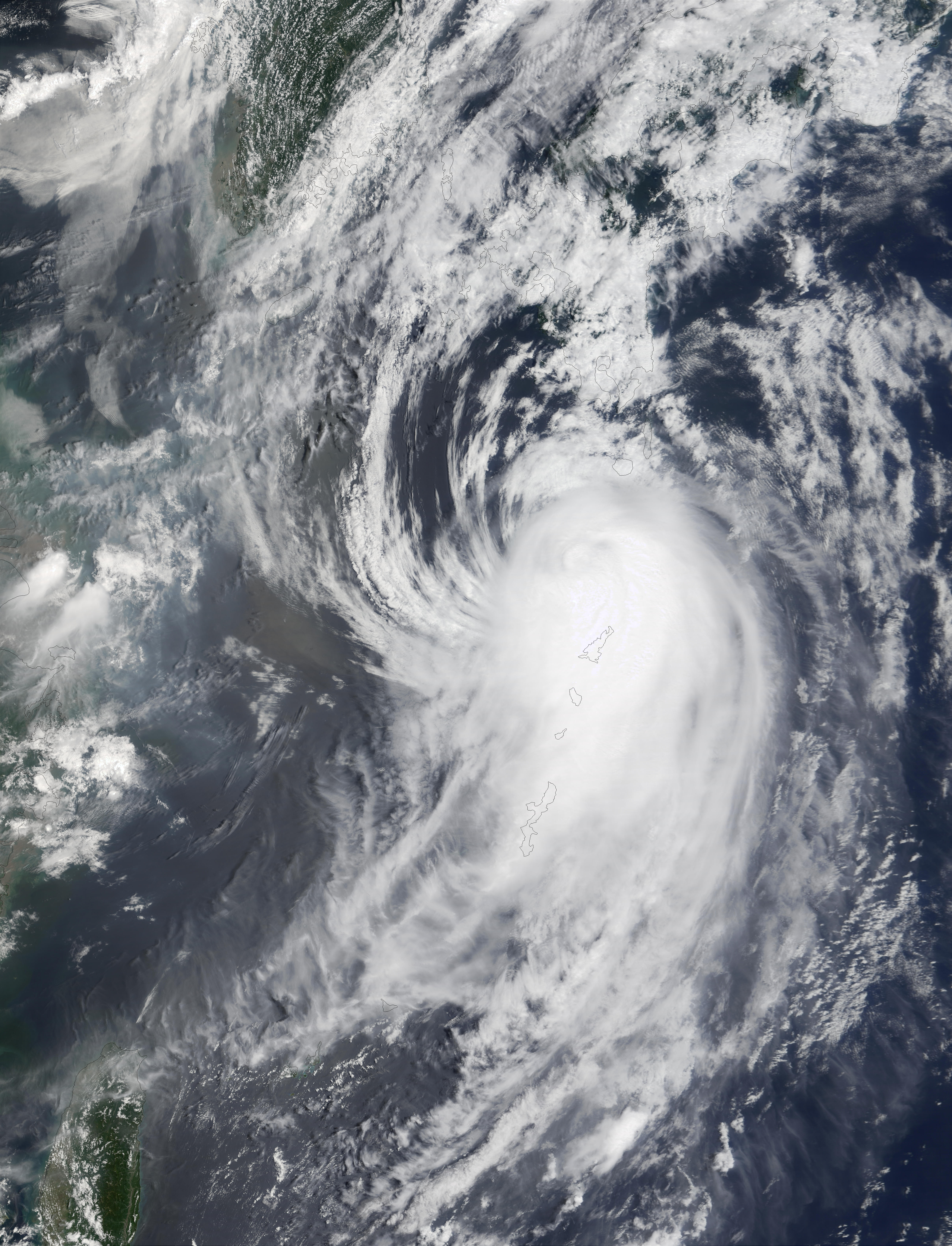Typhoon Halong (10W) south of Japan