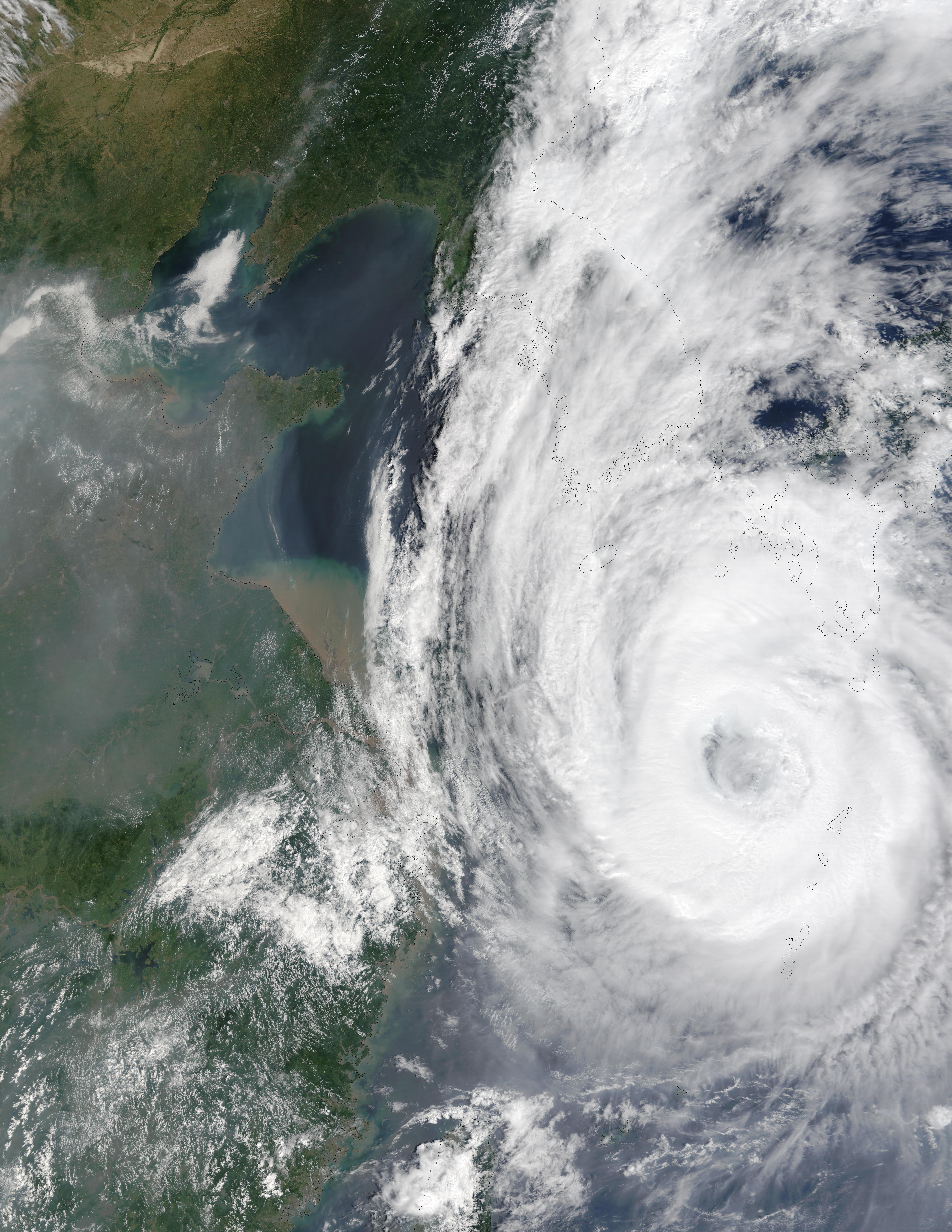 Tifón Rusa (21W) sur de Corea