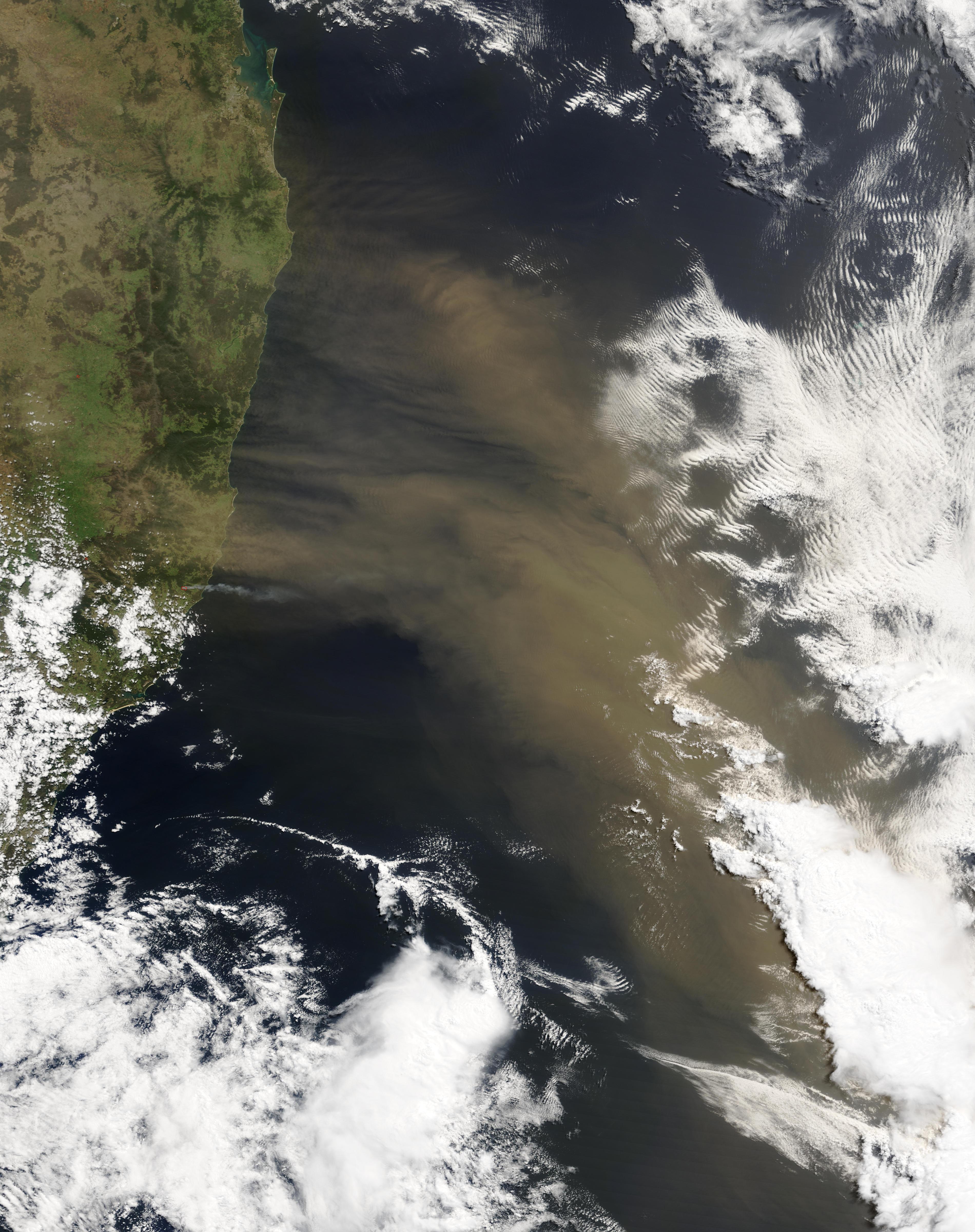 Tormenta de polvareda cerca de Australia