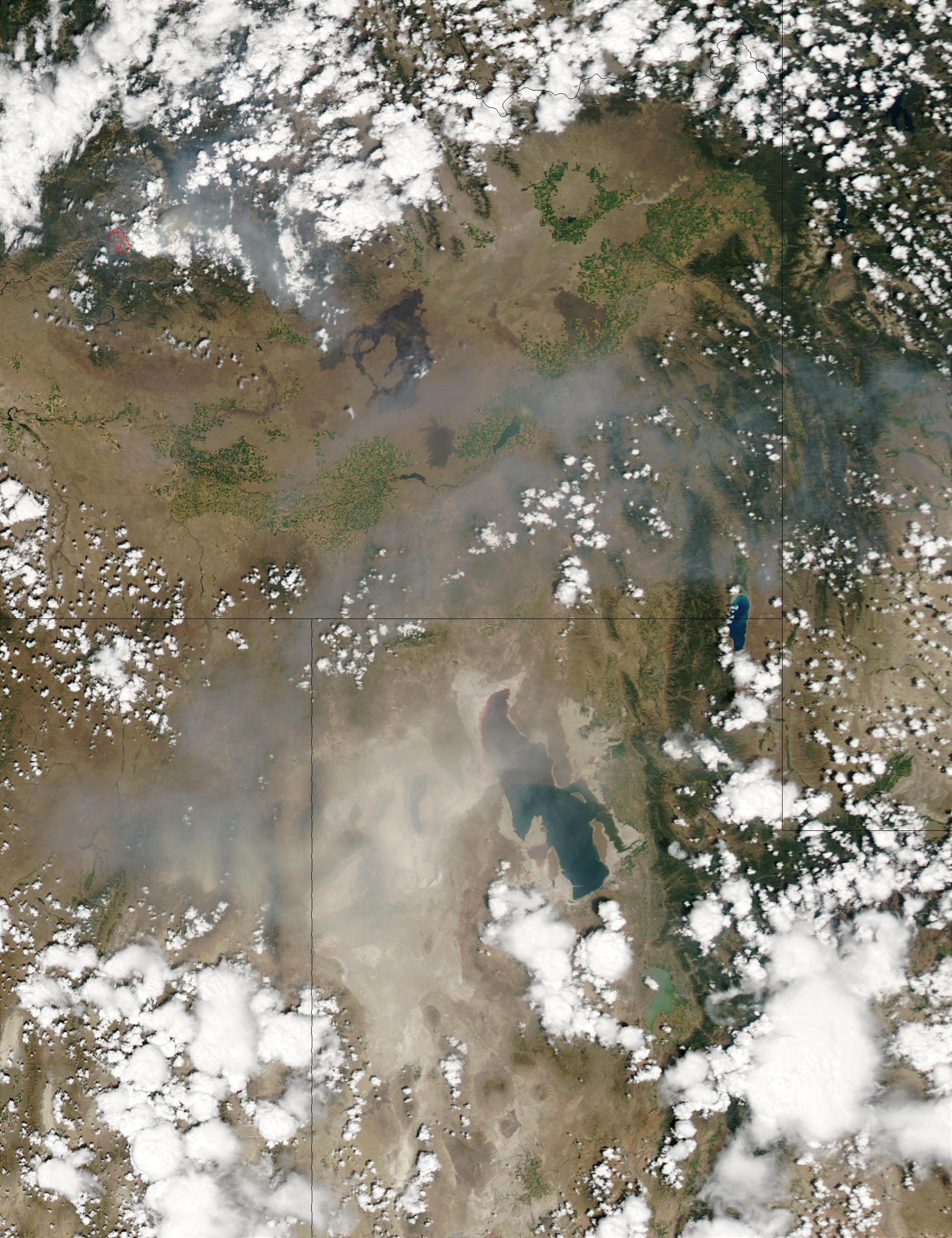 Tormenta de polvareda cerca de Salt Lake City, Utah