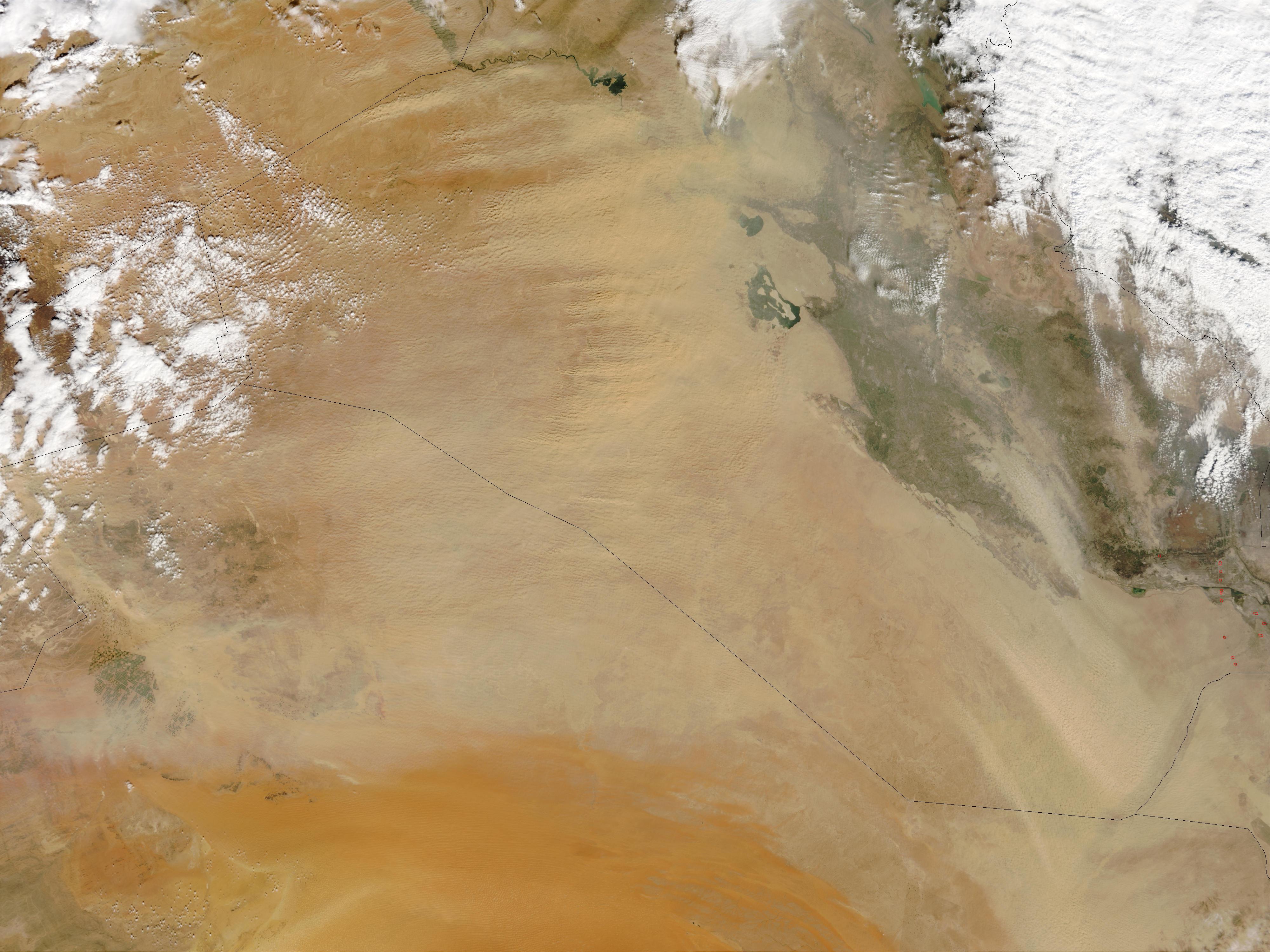 Tormenta de polvareda en Iraq