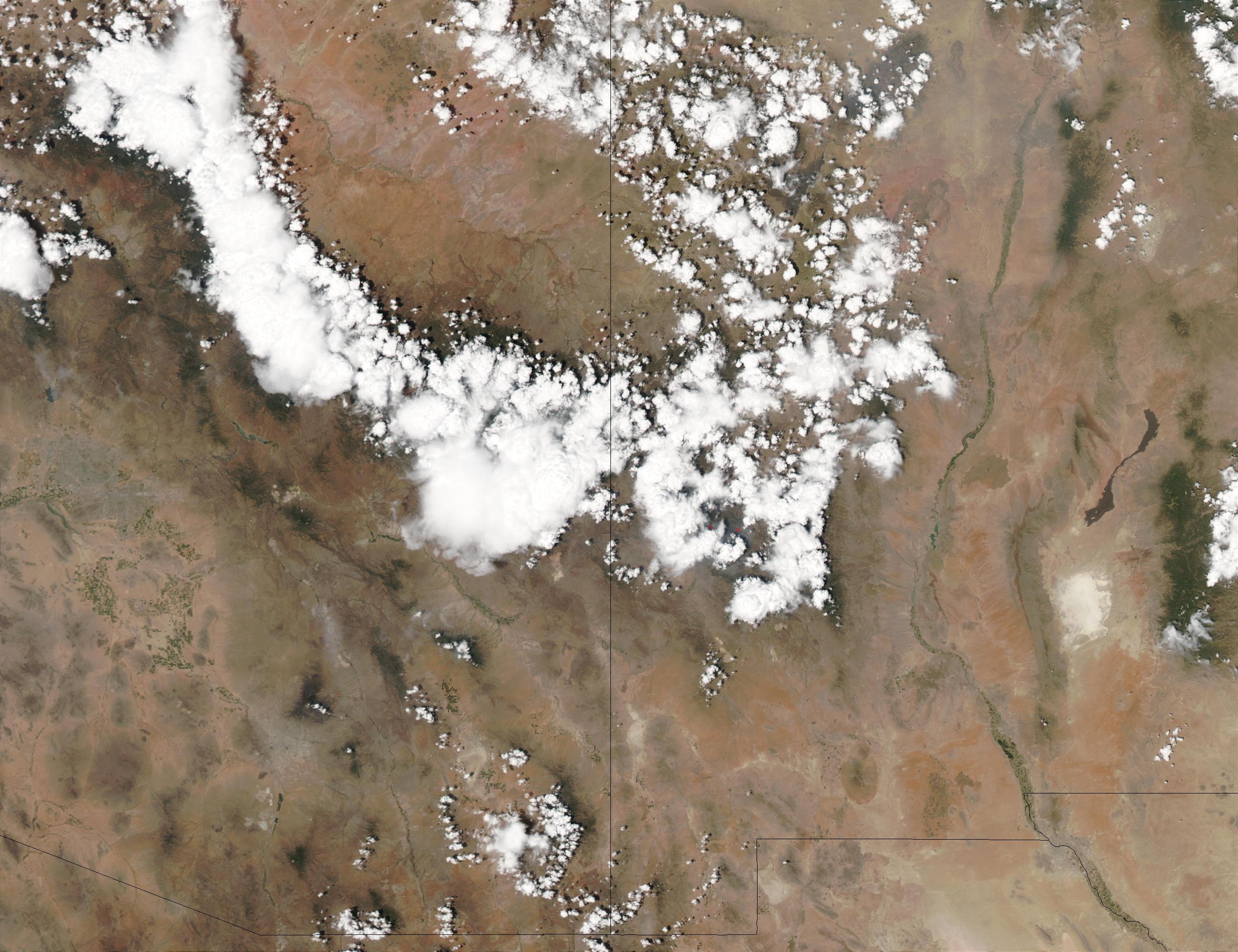 Tormentas en Arizona y Nuevo México