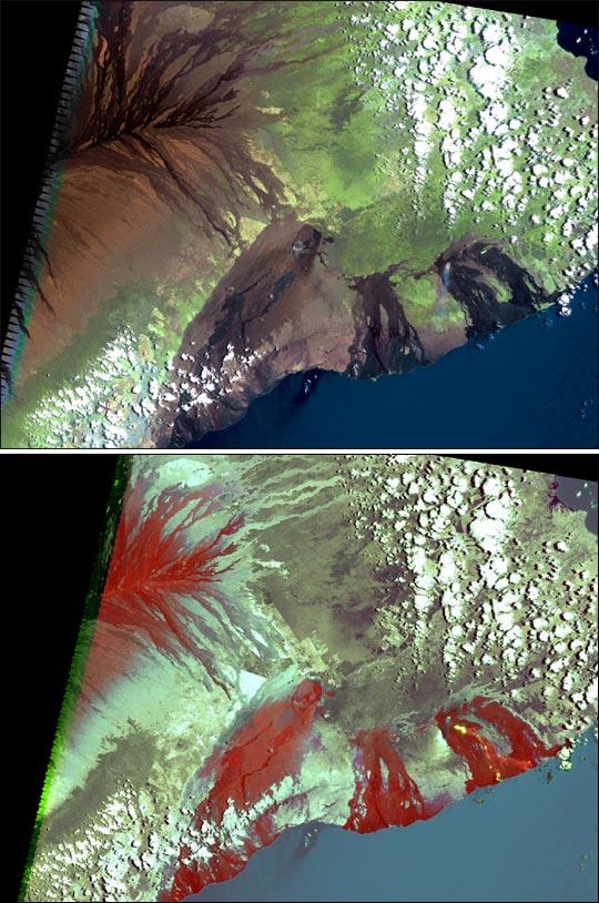 Tubos de lava del Monte Kilauea
