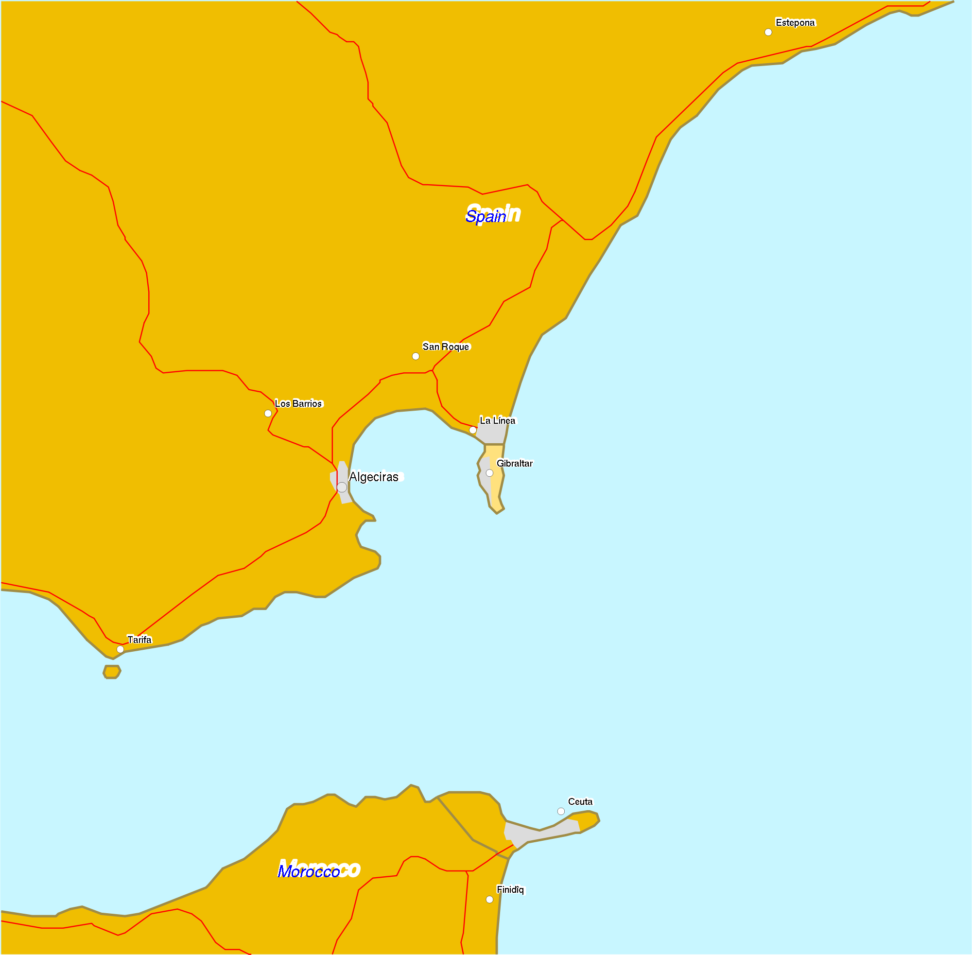 Location of Ceuta 2007